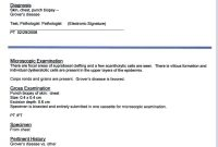 Pathology Report Examples  Regional Medical Laboratory with regard to Dr Test Report Template