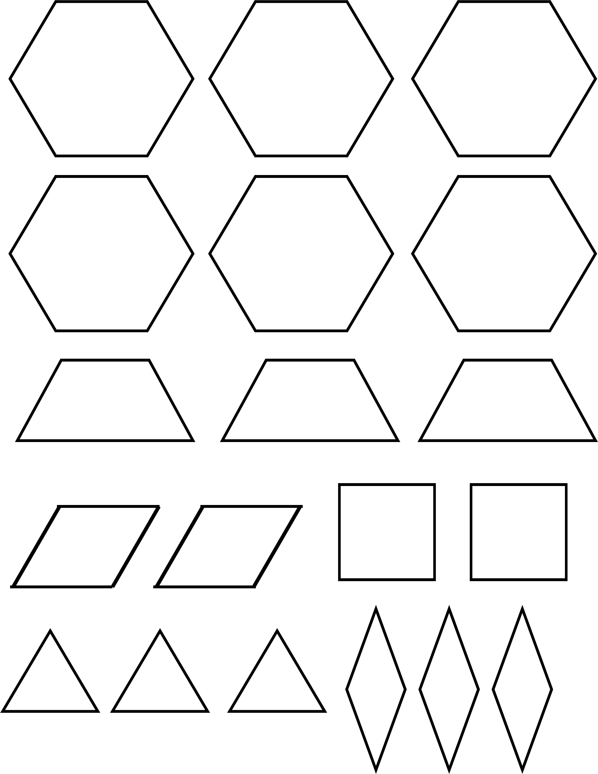 Pattern Block Template Sample Free Download Within Blank Pattern Block Templates