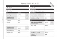 Payslip Templates And Examples  Pdf Doc  Examples with regard to Blank Payslip Template