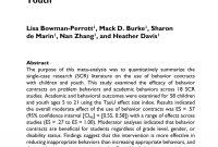 Pdf A Metaanalysis Of Singlecase Research On Behavior Contracts regarding Good Behavior Contract Templates