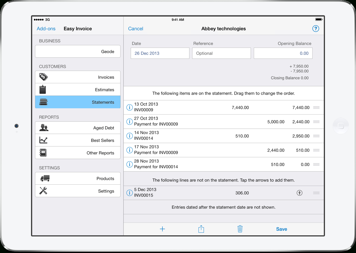 Pdf Invoicing For Ipad Iphone And Mac  Easy Invoice Pertaining To Invoice Template Ipad