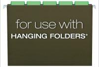 "Pendaflex Hanging Folder Tabs "" Clear Green  Tabs  Inserts inside Hanging File Folder Label Template"