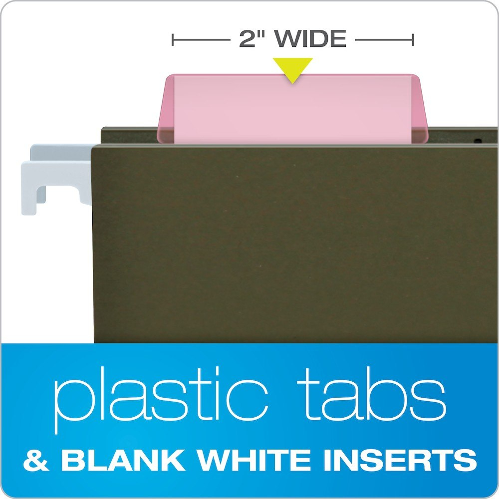 """Pendaflex Hanging Folder Tabs """" Clear Pink  Tabs  Inserts Per For Pendaflex Label Template"""