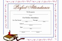 Perfect Attendance Certificate Template  Mathosproject for Perfect Attendance Certificate Template