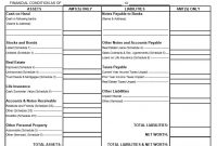 Personal Financial Statement Templates  Forms ᐅ Template Lab for Blank Personal Financial Statement Template