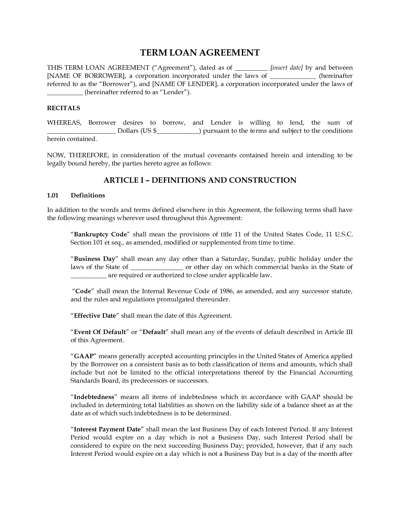 Personal Loan Contract Agreement Template Get My Free Video Tutorial Intended For Commercial Loan Agreement Template