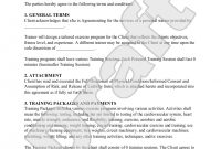 Personal Trainer Forms  Personal Training Contract Agreement throughout Personal Training Cancellation Policy Template