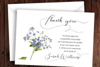 Personalized Funeral Thank You Card Sympathy Thank You Card Memorial with regard to Sympathy Thank You Card Template