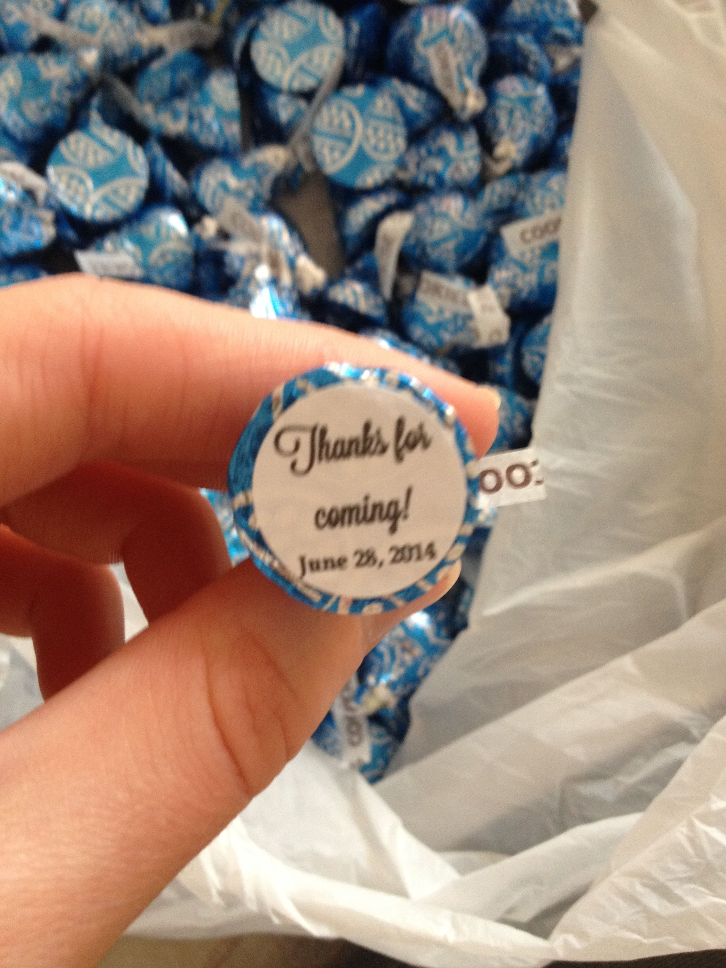 Personalized Hershey Kisses For Wedding Or A Party With Free Regarding Free Hershey Kisses Labels Template