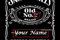Personalized Jack Daniels Logos within Jack Daniels Label Template