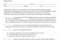 Pet Addendumagreement Pdf  Property Management Forms In with regard to Landlords Property Management Agreement Template
