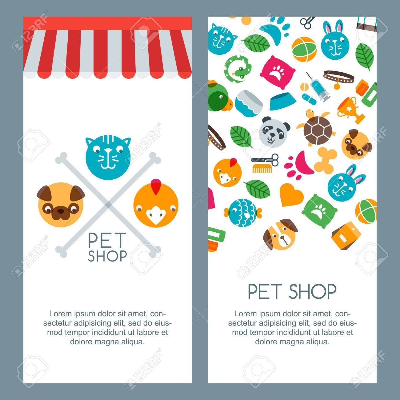 Pet Shop Zoo Or Veterinary Banner Poster Or Flyer Template Within Zoo Brochure Template