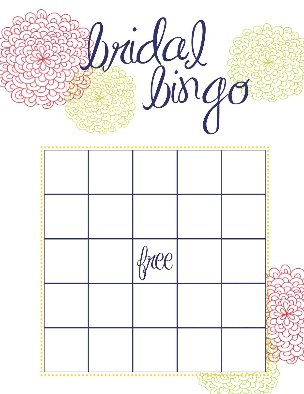 Photo  Baby Bingo Shower Blank Image Pertaining To Blank Bridal Shower Bingo Template