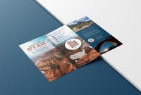 Photo Centric Outdoor Travel Brochure Idea  Venngage Brochure throughout Welcome Brochure Template