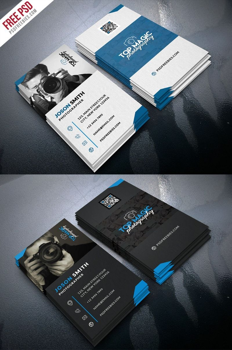 Photographer Business Card Psd Bundle  Psd Print Template Intended For Photography Business Card Templates Free Download