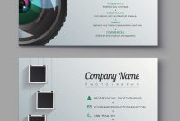 Photographer Business Card Template Design For Vector Image regarding Advertising Cards Templates