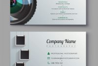 Photographer Business Card Template Design For Vector with Photography Business Card Template Photoshop
