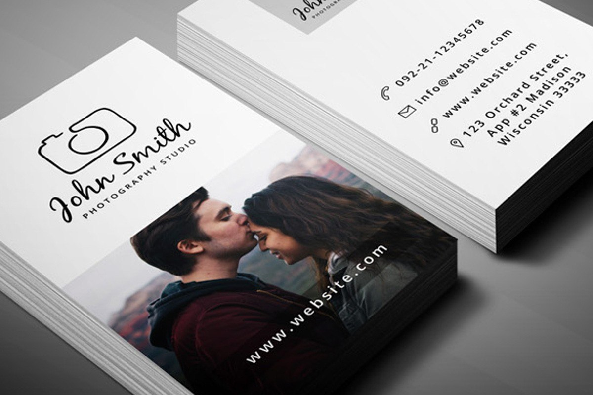Photographer Business Card Template Psd Free  Creativeatoms Regarding Free Business Card Templates For Photographers