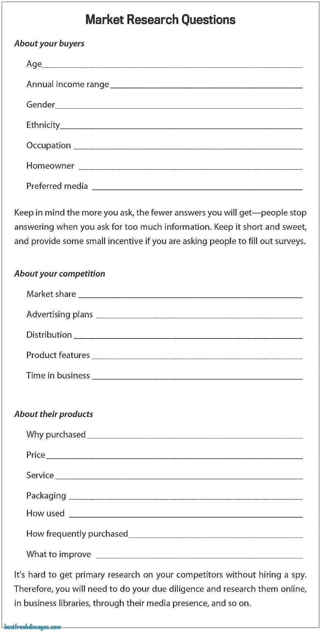 Photography Business Plan Doc Template Questionnaire Free Blank Throughout Business Plan Questionnaire Template