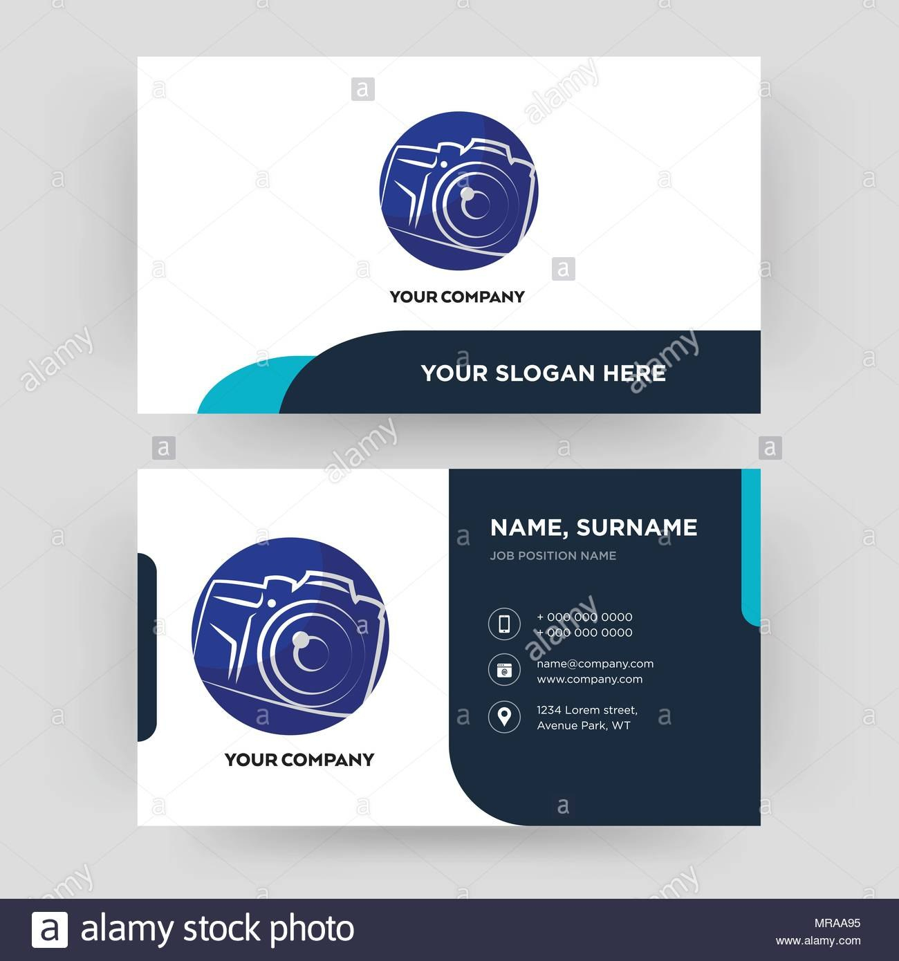 Photography Camera Business Card Design Template Visiting For Your Pertaining To Photographer Id Card Template