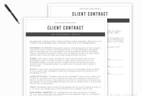 Photography Contract Template Session Contract Template  Etsy with regard to Photography Cancellation Policy Template