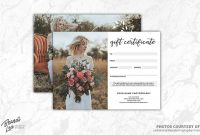 Photography Gift Certificate Templ Commercialfreefontscards regarding Free Photography Gift Certificate Template