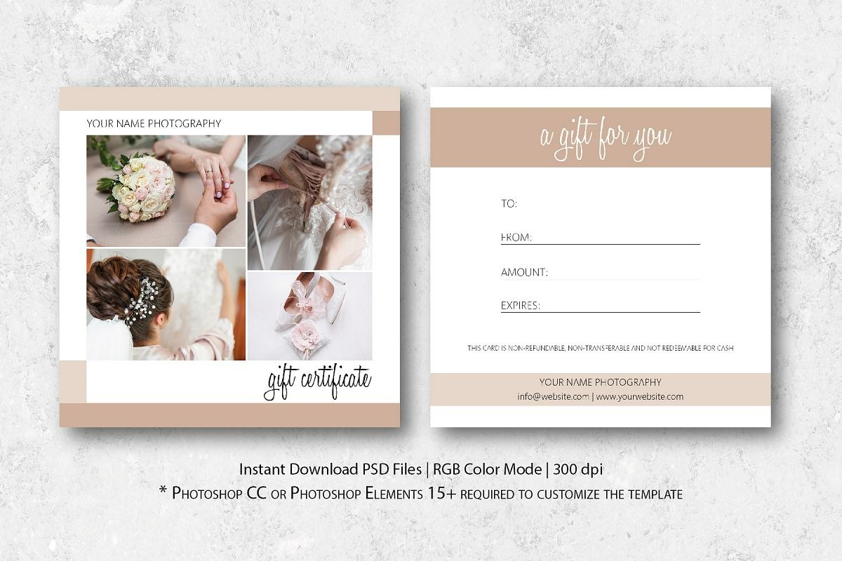 Photography Gift Certificate Template For Gift Certificate Template Photoshop