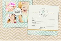 Photography Gift Certificate Template For Professional Photographers regarding Photoshoot Gift Certificate Template