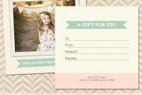 Photography Gift Certificate Template Free Excellent Ideas regarding Free Photography Gift Certificate Template