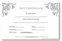 Photography Gift Certificate Template Word  Certificatetemplateword intended for Free Photography Gift Certificate Template