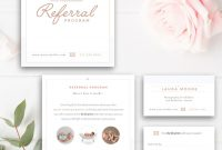 Photography Referral Card  Photoshop Template  Referral Program inside Referral Card Template
