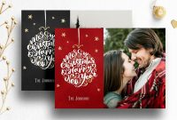Photoshop Christmas Card Template For Photographers with regard to Free Christmas Card Templates For Photographers