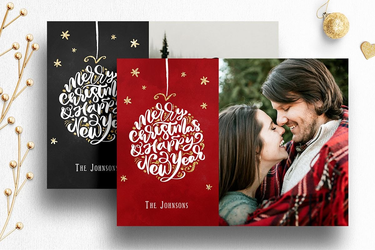 Photoshop Christmas Card Template For Photographers With Regard To Holiday Card Templates For Photographers