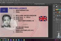 Photoshop Uk License Template Drivers Patinaresistancerestraint within Isic Card Template