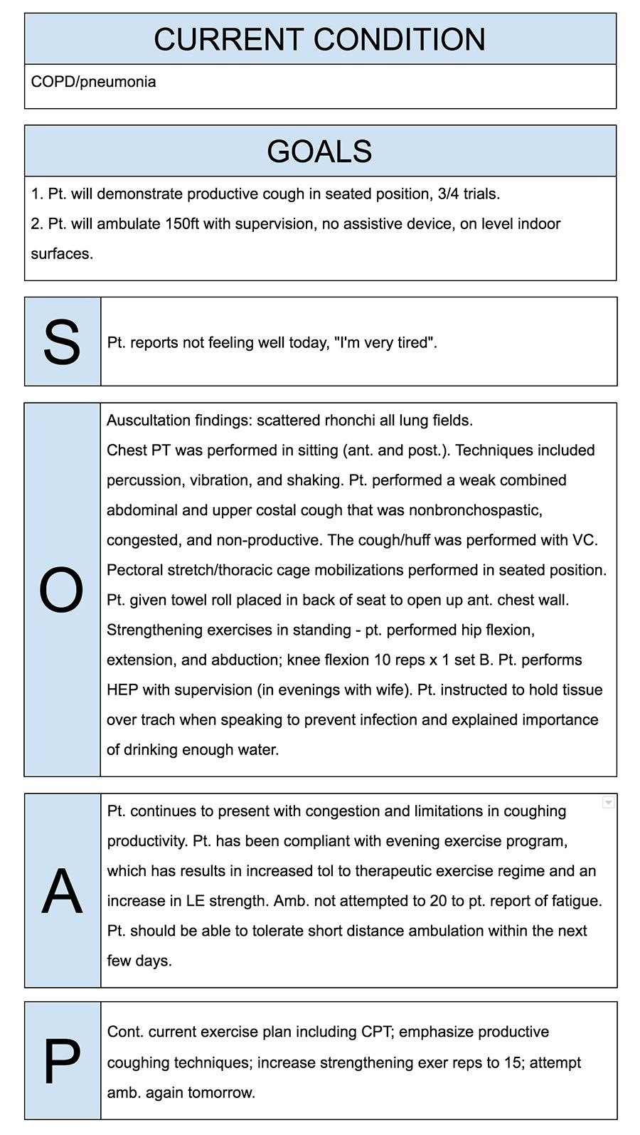 Physical Therapist Soap Notes Example  Quotes  Soap Note Mental Regarding Soap Report Template