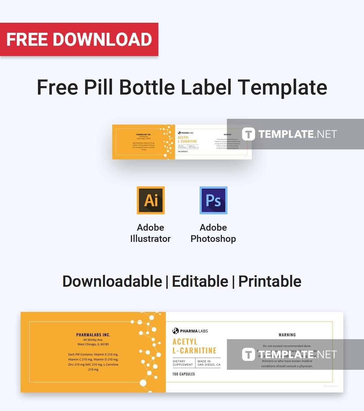 Pill Bottle Labels Templates Template Frightening Ideas Label In Template For Bottle Labels
