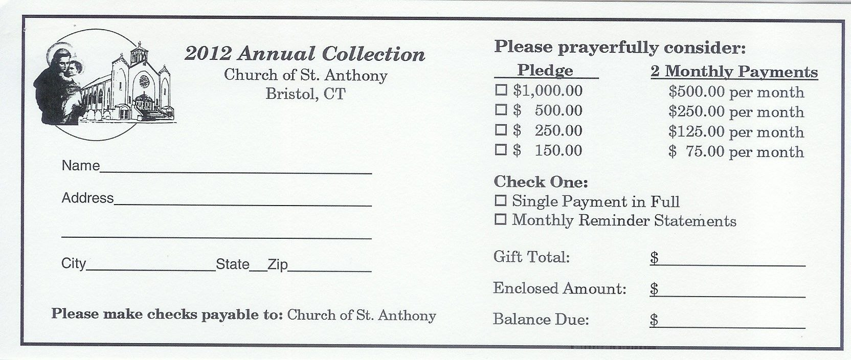 Pinandrew Martin On Pledge Cards  Card Templates Fundraising For Pledge Card Template For Church