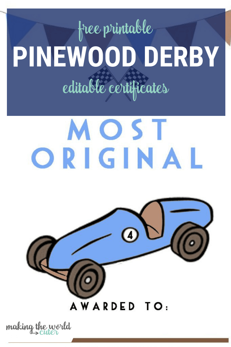 Pinewood Derby Certificates Intended For Pinewood Derby Certificate Template
