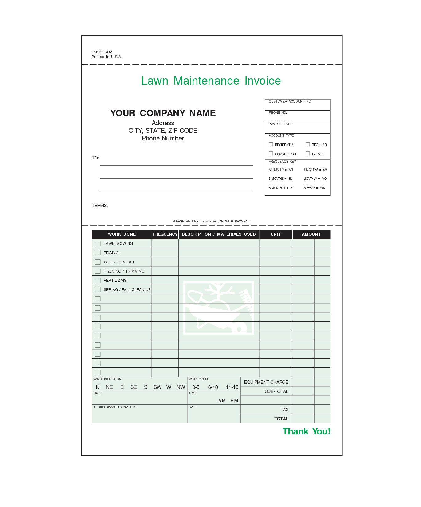 Pingina Taliaferro On Invoices  Invoice Template Invoice Inside Lawn Maintenance Invoice Template