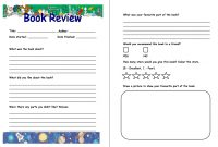 Pinjana Peek On Education  Book Review Template Book Report regarding Report Writing Template Ks1