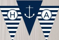 Pinjulie Winters On Nautical Party Ideas In   Nautical regarding Nautical Banner Template