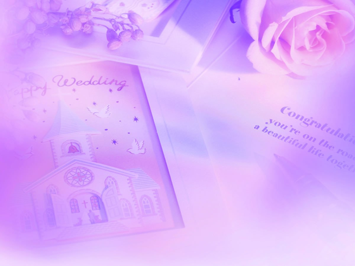 Pink Rose Wedding Cards Backgrounds For Powerpoint  Love Ppt Templates For Powerpoint Thank You Card Template
