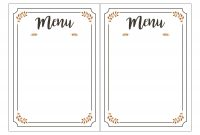 Pinkylah On Activities  Free Printable Menu Template Printable With Regard To Free Printable Menu Template