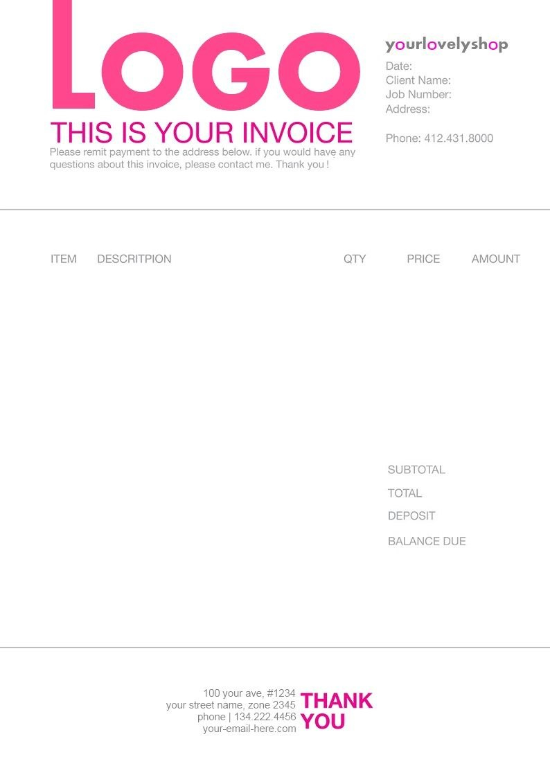 Pinmatthieu Smith On Invoices  Invoice Template Invoice Design Pertaining To Graphic Design Invoice Template Word
