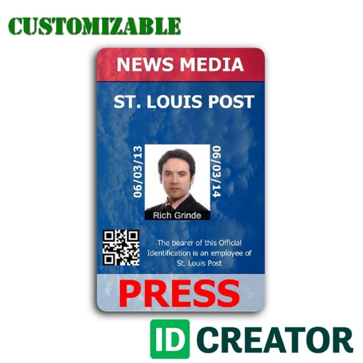 Pinrandell Fisco On Saved  Id Card Template Badge Template Id Inside Media Id Card Templates