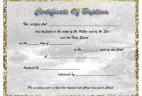 Pinselena Bingperry On Certificates  Certificate Templates regarding Baptism Certificate Template Word
