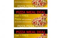 Pizza Or Meal Delivery Coupon  Templates At Allbusinesstemplates for Pizza Gift Certificate Template