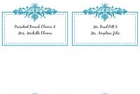 Place Card Template Free Magnificent Ideas Wedding Word Download pertaining to Wedding Place Card Template Free Word