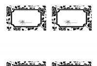 Place Card Templates Word Table Template Free  Beautiful for Christmas Table Place Cards Template