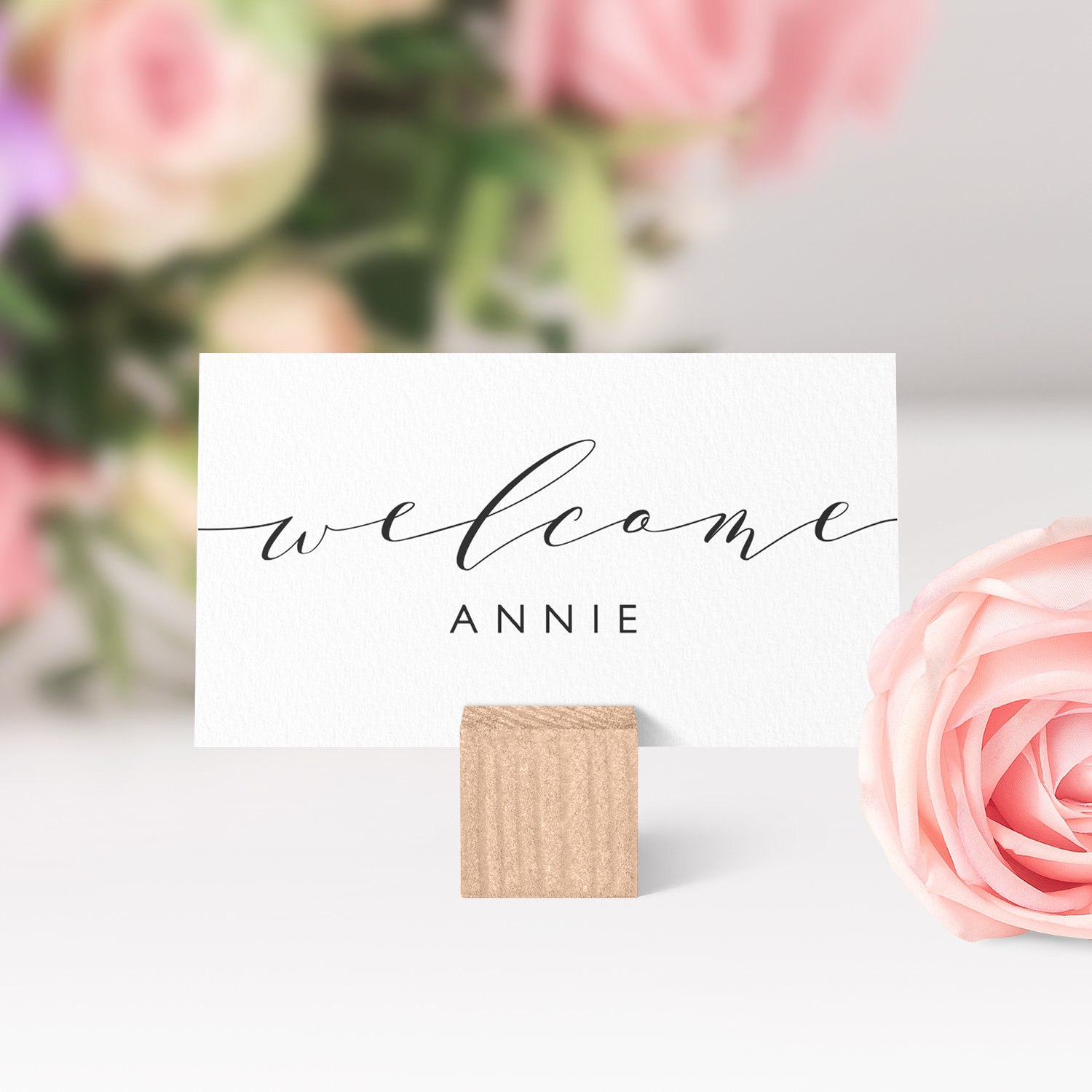 Place Cards Printable Template Flat And Folded Welcome Escort Guest With Place Card Setting Template